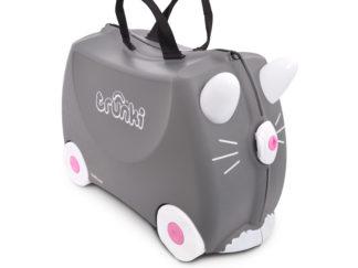 Trunki Benny the Cat Rejsekuffert, perfekt børnekuffert til alle slags rejser.