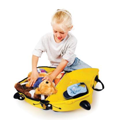 Trunki Bernard the Bee Rejsekuffert, perfekt børnekuffert til alle slags rejser.