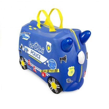 Trunki Percy the Police Car, set forfra med klistermærker.