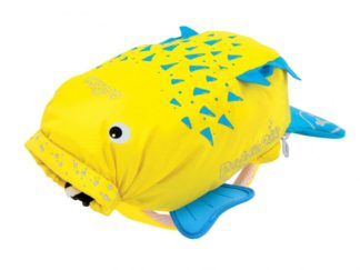 Trunki PaddlePak Blowfish rygsæk i gul set forfra