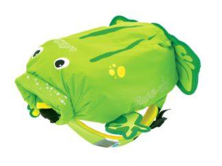 Trunki PaddlePak Frog rygsæk i grøn set forfra