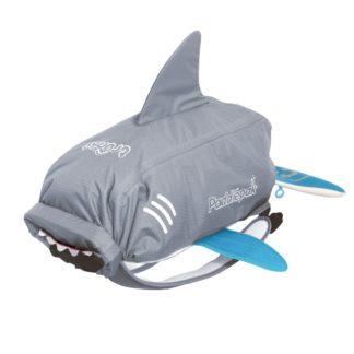 Trunki PaddlePak Shark rygsæk i grå set forfra